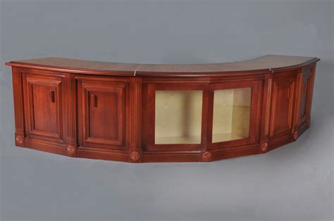 Custom Curved Cherry Sofa Table By H M Woodworks Curved Sofa Tables