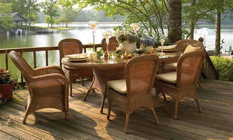 outdoor dining room sets traditional rattan dining set for outdoor deck of a