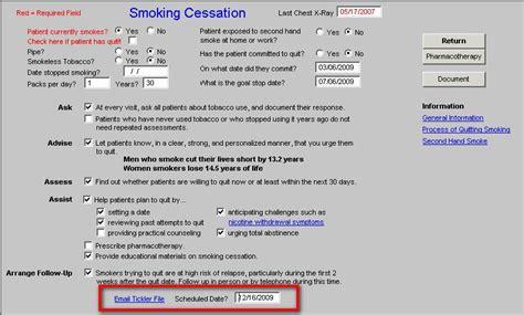 Cessation Counseling Template Cigarette Smoking And Lung Cancer Smoking Cessation Counseling Template