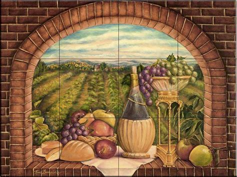kitchen murals design tile murals the tile home guide