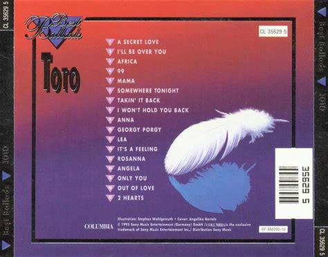 Cd Toto Best Ballads car 225 tula trasera de best ballads de toto caratulas