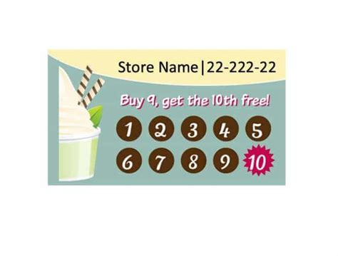 buy one drink get one free card template 30 printable punch reward card templates 101 free