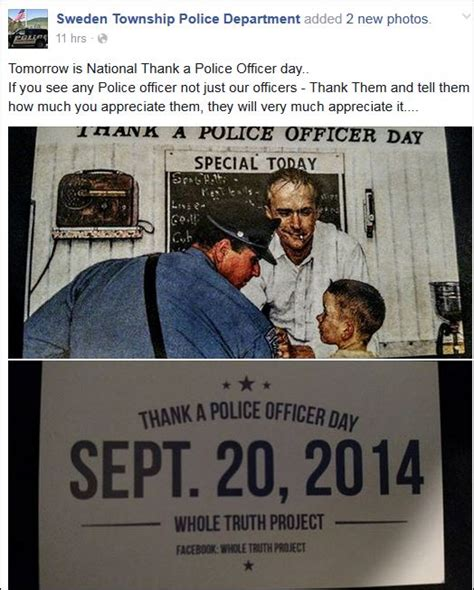 National Thank A Officer Day by Solomon S Words For The Wise Saturday Is National Thank A