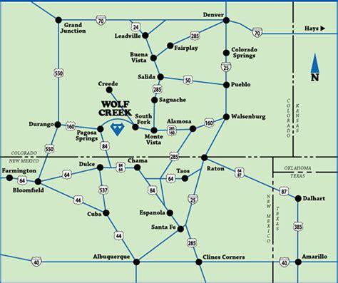 map of colorado ski resorts area maps wolf creek ski area coloradowolf creek ski