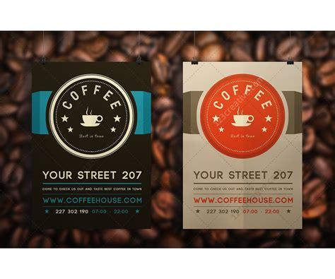 cafe flyer template modern clean design for flyer or leaflet ideal for coffee