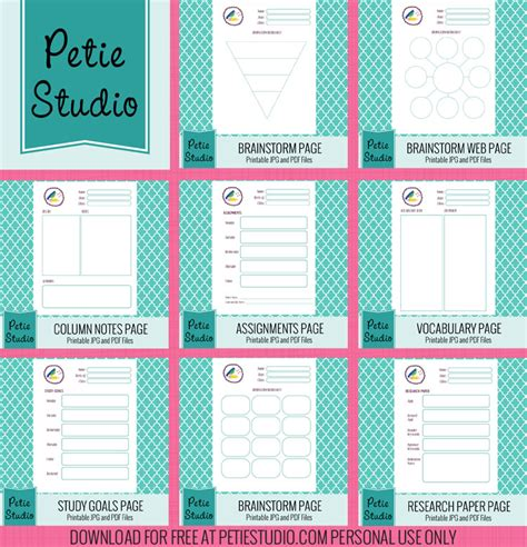 printable personal planner organizer 9 best images of printable home organizer pages free