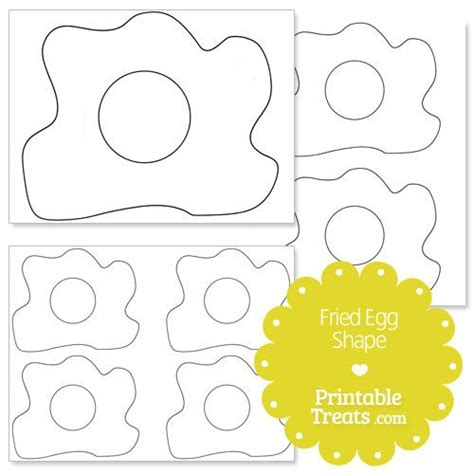 printable fried egg shape template green eggs ham