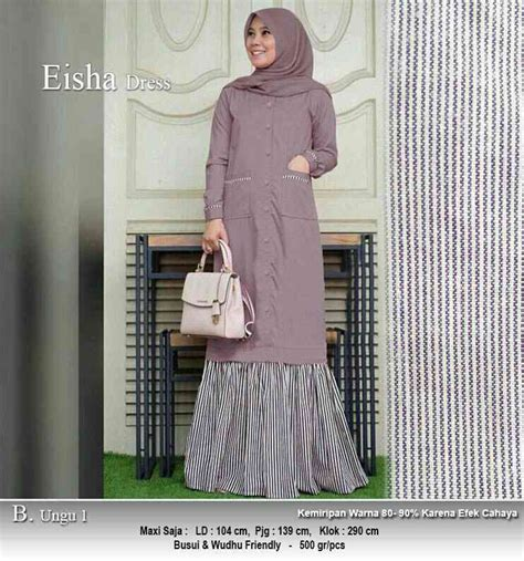 Harga Baju Merk Omg baju gamis panjang 140cm eisha ungu1 model baju gamis