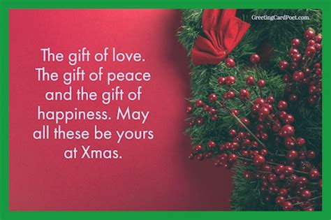 holiday card messages christmas wishes sayings greeting card poet