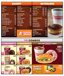 Menu Dunkin Donuts Dunkin Donuts Karachi Prices Menu And Location
