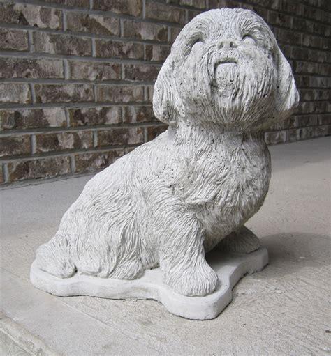 shih tzu statues size concrete shih tzu statue or use as a monument a beautiful statue ebay