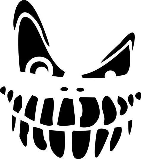 scary pumpkin faces templates best photos of black and white pumpkin template