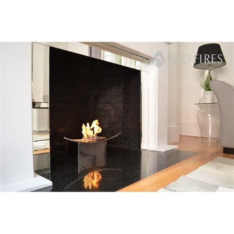 Mirrored Fireplace by Zen Bio Fireplace In Mirrored Finish Bio Fires Gel