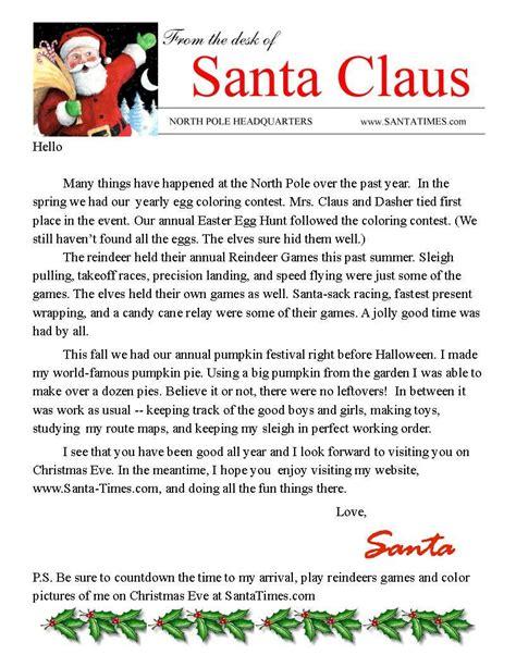 letter santa claus