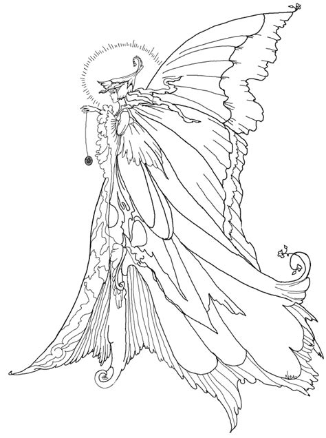 coloring page of fairy fairy coloring pages coloringpagesabc com
