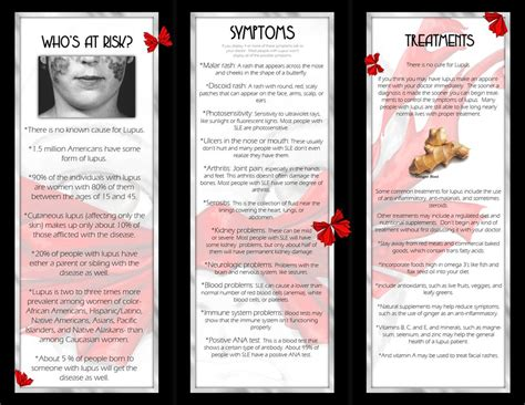 Leaflet Layout Sle | lupus brochure inside cover by thedustyphoenix on deviantart
