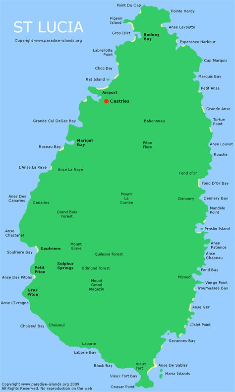 st interactive map st lucia map interactive map of st lucia island