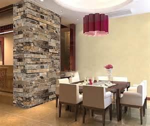 slate vinyl 3d embossed brick wallpaper roll kitchen