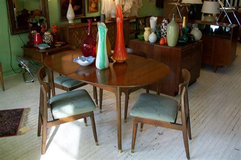 apartment sized mid century modern dining room set