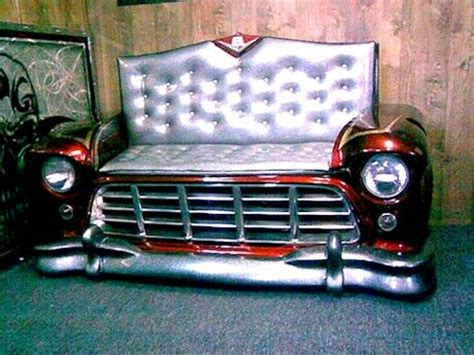 truck couch 56 chevy truck couch hot rod furniture pinterest
