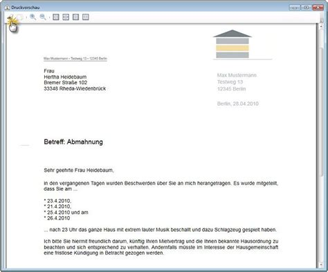 Mustervorlagen Briefe Wiso Vermieter De Software