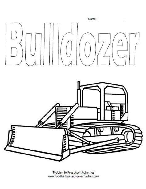 Bulldozer Coloring Page Fun Kid Things Pinterest Bulldozer Coloring Pages