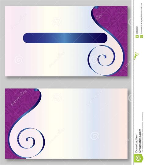 z card template purple business card template stock vector image 60160204