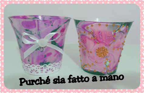 decorare vasi di plastica diy riciclare vasetti di plastica