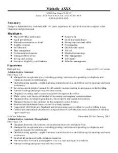 senior administrative assistant 23 yrs resume exle
