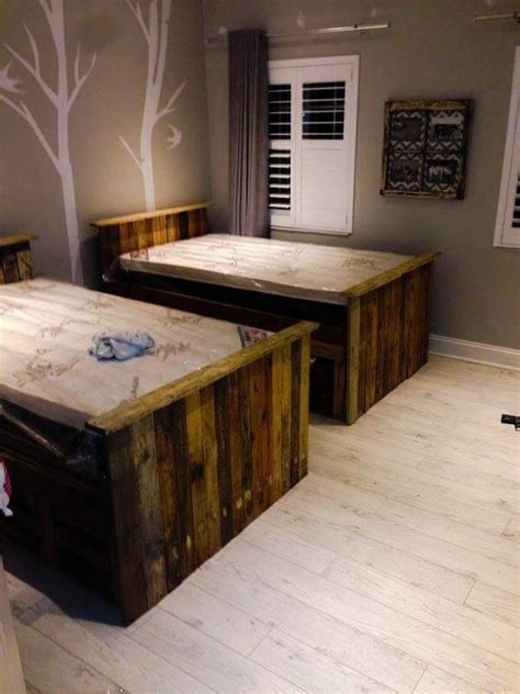 pallet bed with storage diy pallet beds with storage