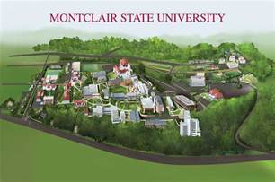 Montclair State University Campus Map by Montclair State University Painting By Rhett And Sherry Erb