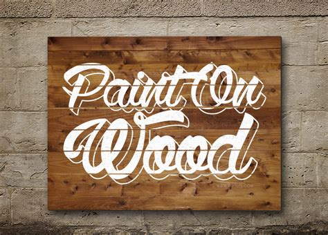 wood typography photoshop tutorial painted on wood text effect wood paint psd font textuts