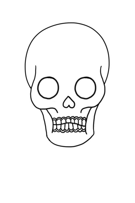 Day Of The Dead Drawings Easy by Skull Line By Jaybird28 On Deviantart