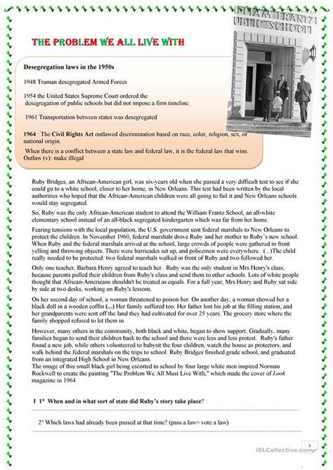 Ruby Bridges Worksheets by Worksheets Ruby Bridges Worksheets Opossumsoft
