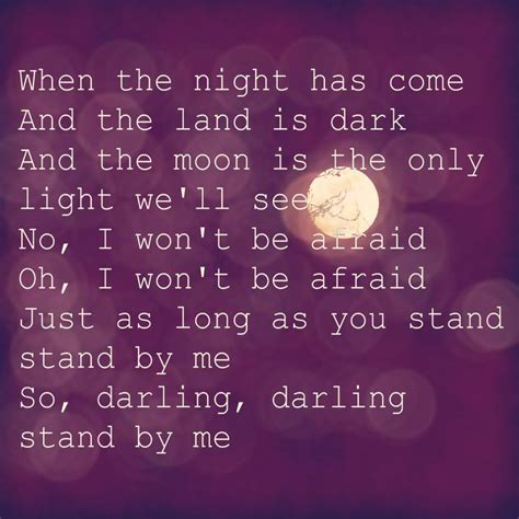 Standing In The Kitchen Lyrics by 1000 Ideas About Stand By Me Lyrics On