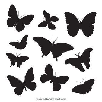 imagenes de mariposas siluetas siluetas de animales fotos y vectores gratis