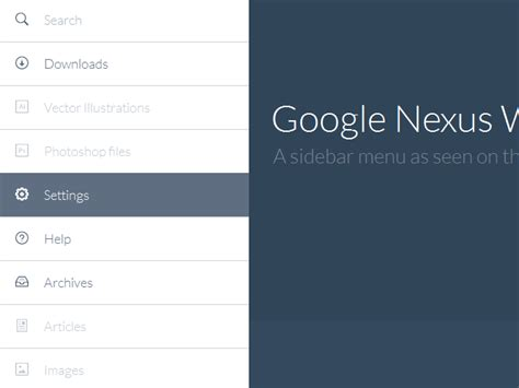 tutorial css javascript nexus like sidebar menu with css3 and javascript