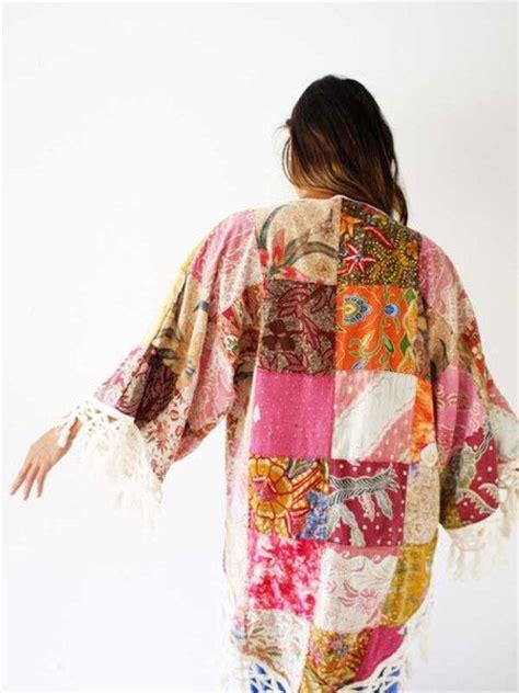 Patchwork Kimono - kimonos tops and fabrics on