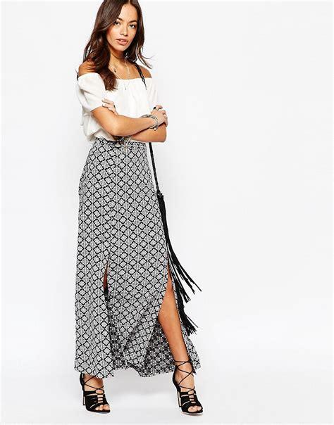 new look new look split maxi skirt at asos