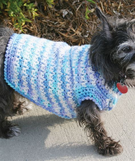 crochet patterns for dog coats free dog sweater crochet pattern red heart