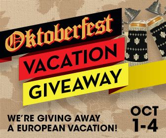 Free Vacation Giveaways - head to europe on us with the oktoberfest vacation giveaway borgata blog borgata