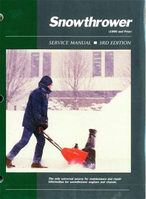 snowthrower workshop service manual