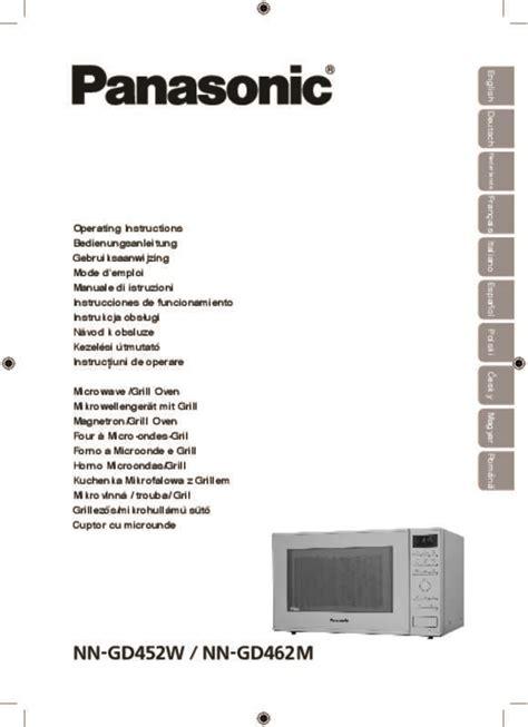 Plat 2 Panasonic Wehj6802 A Mode notice four micro onde panasonic nn gd462m et pi 232 ces