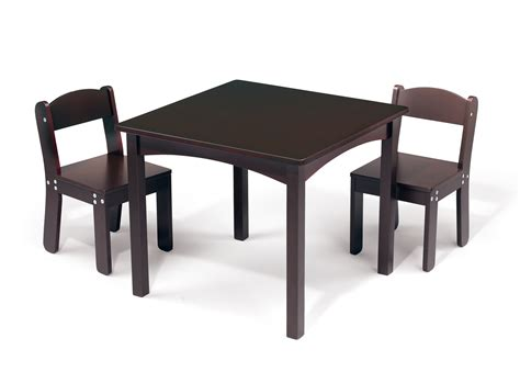 espresso childrens table and chairs wonkawoo children s deluxe table and chair set espresso
