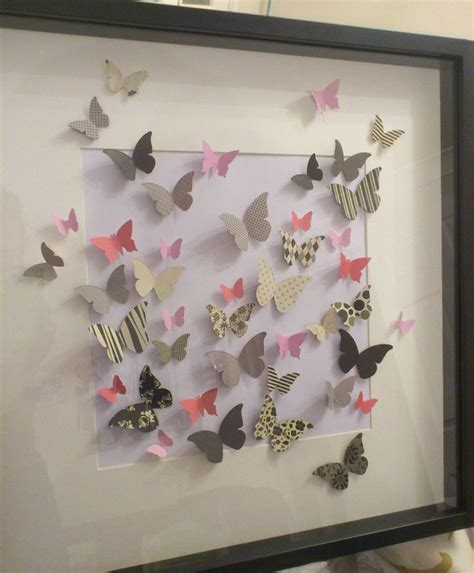 3d paper butterfly wall decor 14 best images about 3d paper wall on
