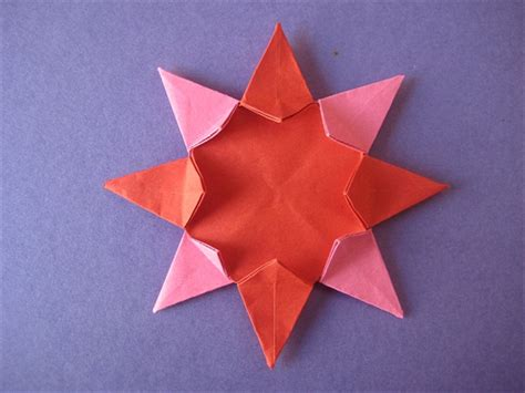 Origami Eight Pointed - how to make an origami 8 pointed from 2 pieces of paper