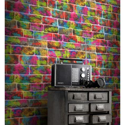 rasch graffiti brick wallpaper decorating bm stores