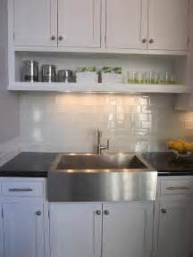 Glass Kitchen Backsplash Tile White Glass Tile Backsplash Design Ideas