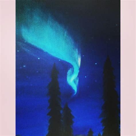 Northern Lights Painting Medium Acrylic Paint My