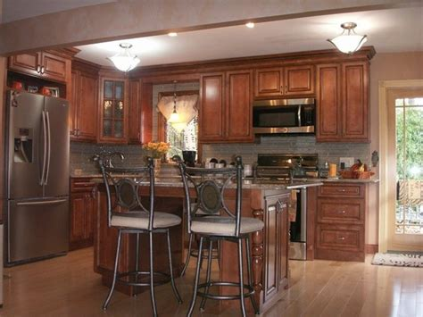 kitchen with brown cabinets brown kitchen cabinets countertops design ideas